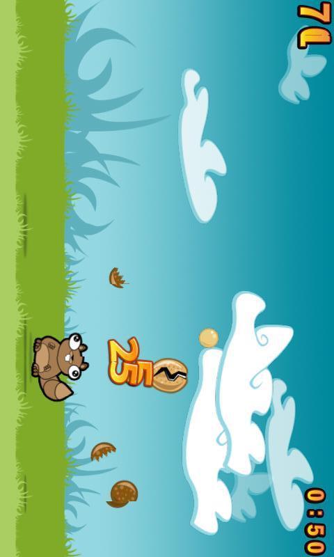 你控制一个有特殊能力的可爱小松鼠,它可以用它的头砸碎坚果!